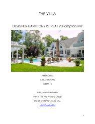 Designer Hamptions Retreat - Hamptons NY