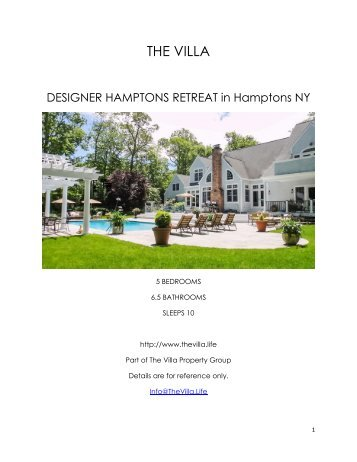 Designer Hamptions Retreat - Hamptons NY