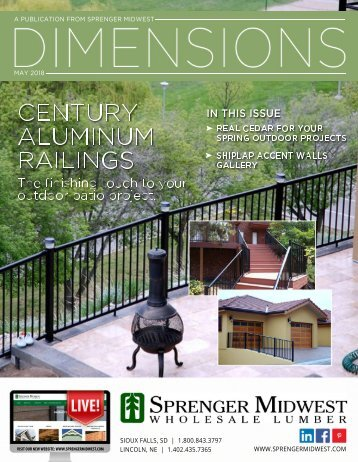 May 2018 Dimensions for Sprenger Midwest
