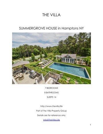 Summergrove House - Hamptons NY