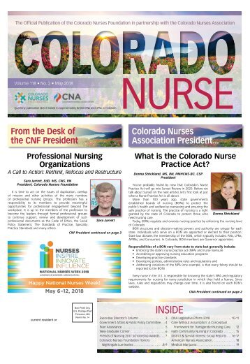 Colorado Nurse - May 2018