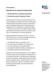 Spezialfonds: Ein deutsches Erfolgsmodell - BVI
