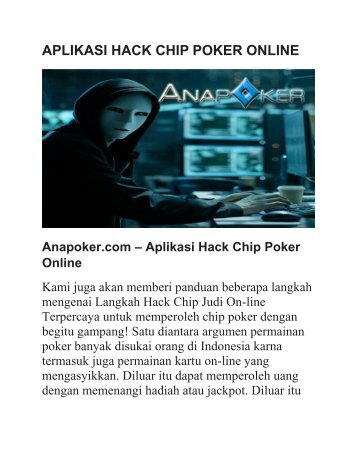 APLIKASI HACK CHIP POKER ONLINE