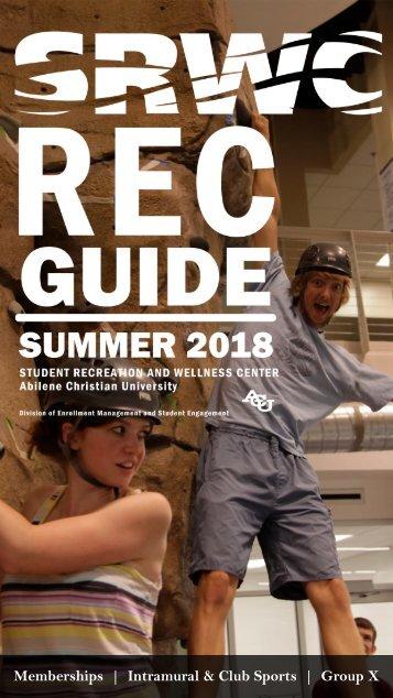 ACU SRWC Summer 2018 Guide