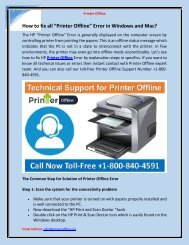 "How to fix all ""Printer Offline"" Error in Windows and Mac?"