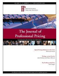 contents the journal of professional pricing - Membership ...