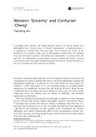 Western sincerity and Confucian Cheng - Page 2
