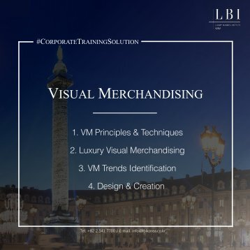 LBI Corporate Training Solution: Visual Merchandising