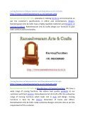 Carving Furniture to Enhance Interior Look Rameshwaram Arts & Crafts - Page 2
