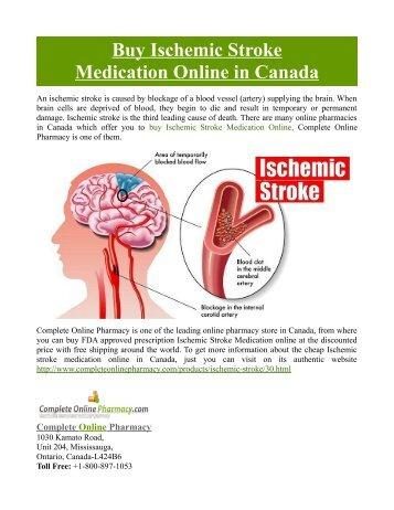 Buy Ischemic Stroke Medication Online in Canada