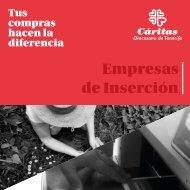 Dossier empresas inserción de Cáritas Diocesana de Tenerife