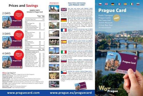 Prague Card Flyer 2018