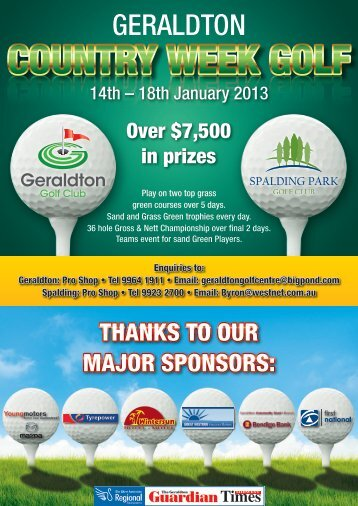 Geraldton Country Week - Exmouth Golf Club