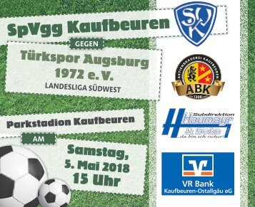 SpVgg Kaufbeuren gegen Türkspor Augsburg 1972