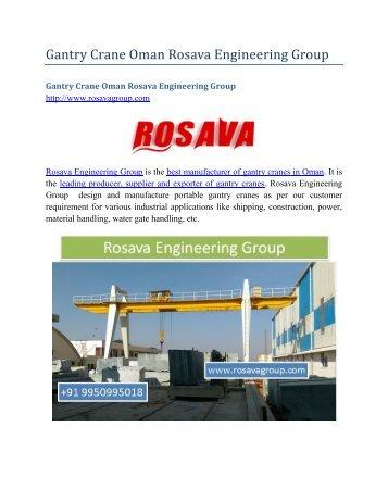 Gantry Crane Oman Rosava Engineering Group