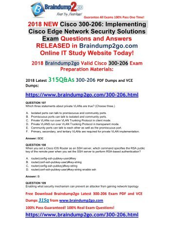 (May-2018)New 300-206 VCE Dumps 315Q Share(107-117)