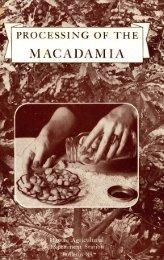 Processing of the macadamia - ctahr - University of Hawaii