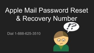 Apple Mail password reset & Recovery Phone Number