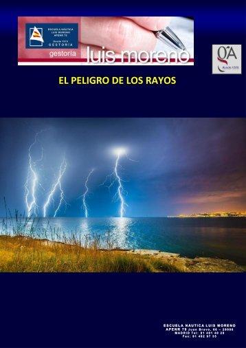 EL PELIGRO DE LOS RAYOS - Fondear.org