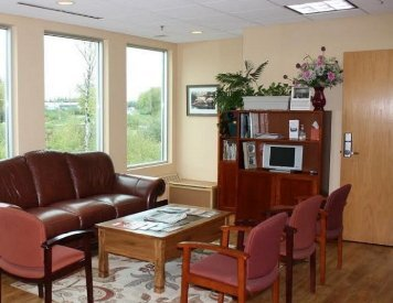 Waiting area at Wasilla cosmetic dentist Alaska Center for Dentistry PC