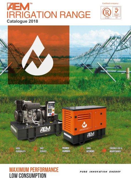2018 - AEM Irrigation Range catalogue - EN