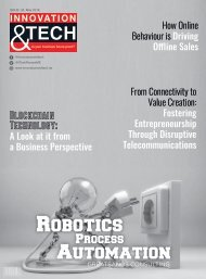 Innovation and Tech May 2018 Issue