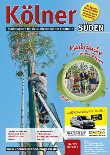 Kölner Süden Magazin April 2018