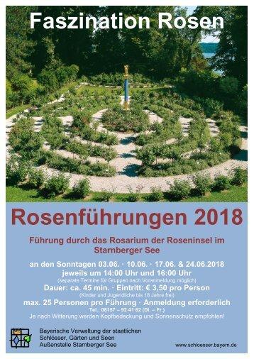Plakat Rosenführungen 2018