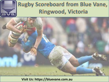 Best Rugby Scoreboard from Blue Vane, Ringwood, Victoria