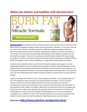 Boost up your Metabolism Level with Garcinia Extra