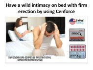 Have a wild intimacy on bed with firm erection by using Cenforce