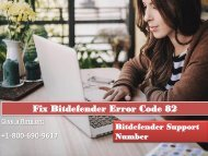Fix Bitdefender Error Code 82