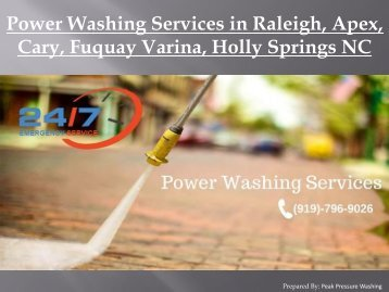 Power Washing Services in Raleigh, Apex, Cary, Fuquay Varina, Holly Springs NC