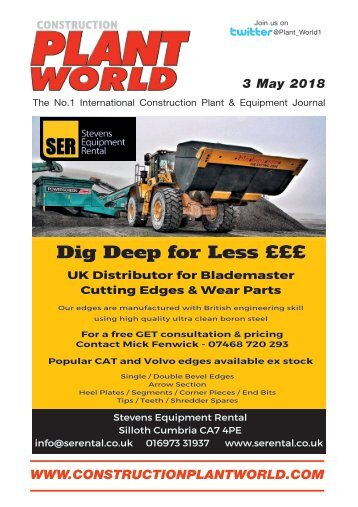 Construction Plant World 3rd May 2018