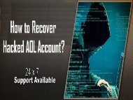 How to Recover Hacked AOL Account? 1-800-213-3740
