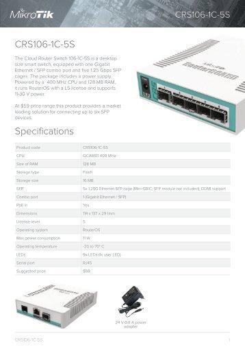 CRS106-1C-5S - Быстрая настройка- mstream.com.ua