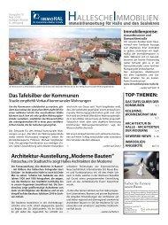 Hallesche Immobilienzeitung Ausgabe 73 Mai 2018