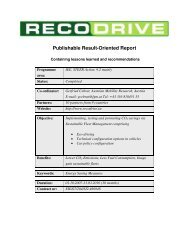 RECODRIVE Final Publishable Result-Oriented Report