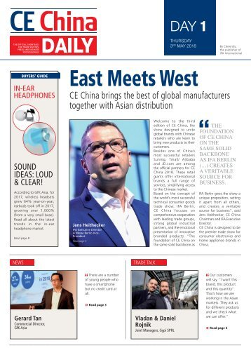 CE China Daily 2018 - Day 1 Edition