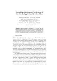 Formal Specification and Verification of JavaCard's Application ...