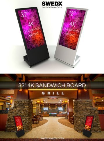 """32"""" 4K Sandwich Board"""