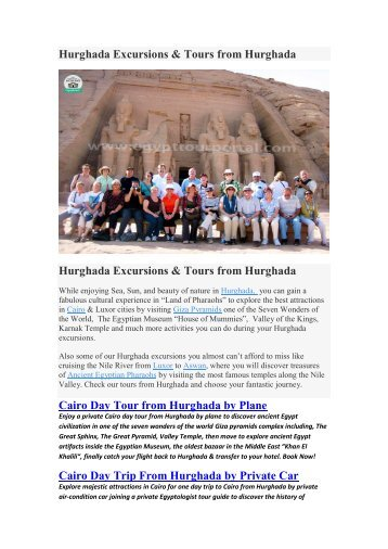 Hurghada Excursions & Tours from Hurghada