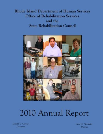 2column2010 Annual Report. - Office of Rehabilitation Services - RI ...