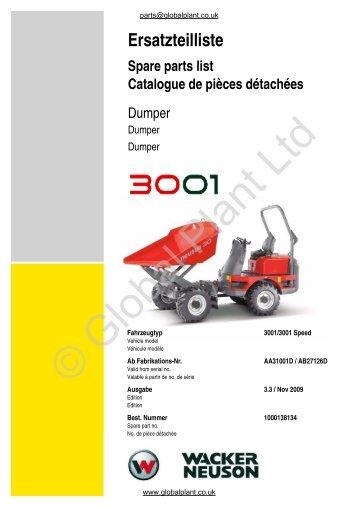 Ersatzteilliste Spare parts list Catalogue de pièces détachées