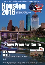Houston 2016 Build Expo Show Preview Guide