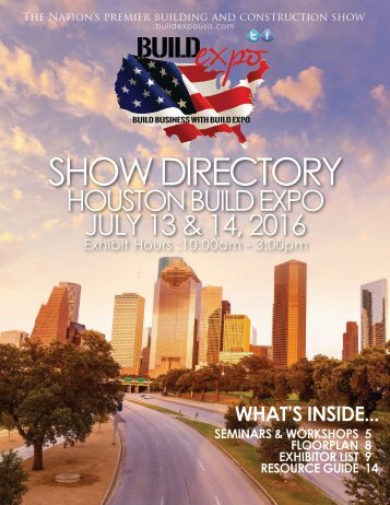 Houston 2016 Build Expo Show Directory