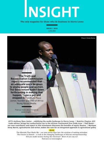 Insight Magazine Issue 1 2018