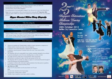 Singapore International Ballroom Dancing ... - Wdcasia.org