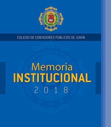 MEMORIA INSTITUCIONAL 2018