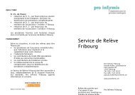 Service de Relève Fribourg - Pro Infirmis